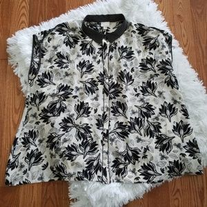 Postmark Floral & Bee Field Day Blouse